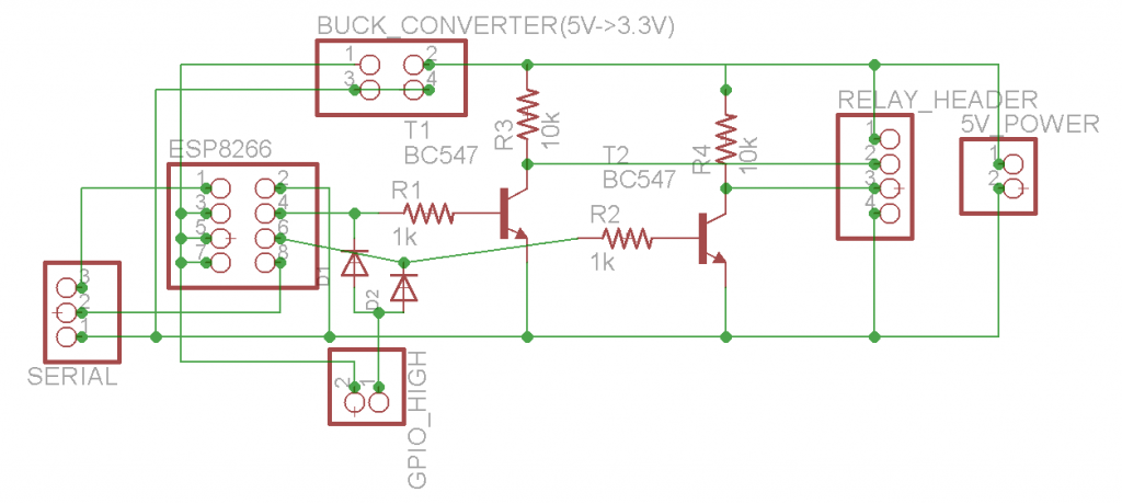 WiFi Relays Schematic